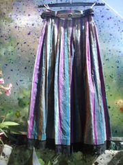 Seiden-Trachtenrock mit Seiden-Bluse