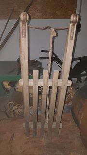 DAVOS Schlitten Holzschlitten gut erhalten
