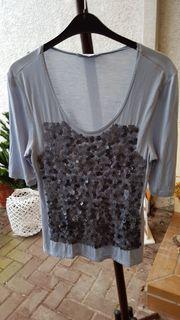 Neuwertiges T-Shirt mit Glamour -Pailetten-Applikation