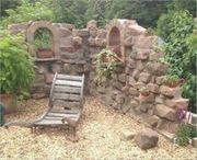 Sansteinenmauer Natursteinmauer und Garten mauerarbaiten-