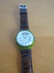 Swatch Armbanduhr automatic grün transparent