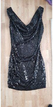 Pailletten Kleid kurz schwarz M