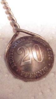 antiker Zuckerlöffel aus alter 1874
