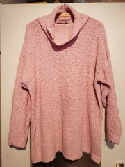 Pullover Rollkragen Rosa Fashion Größe