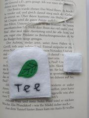 Lesezeichen aus Filz Teebeutel handmade