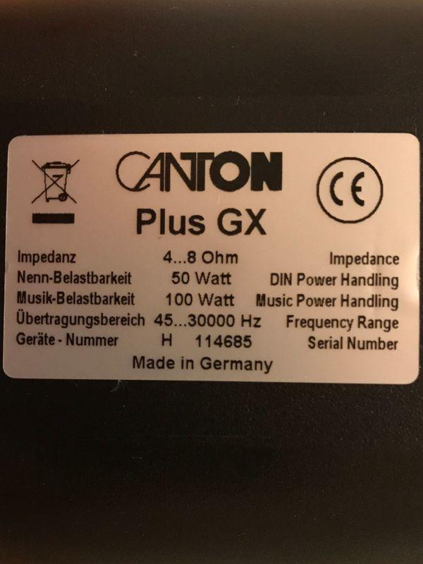 Canton PLUS GX incl Wandhalter