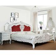 Weiss rokoko barock Bett 160x200
