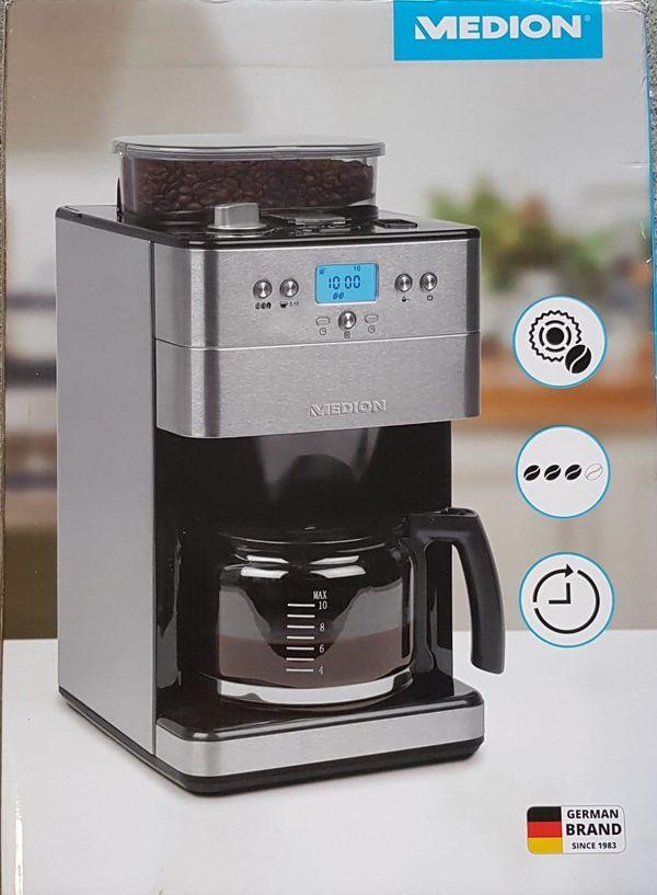 MEDION Kaffeemaschine mit Mahlwerk MD