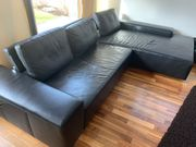 Sofa - Leder - Wohnlandschaft