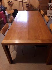 Vollholzesstisch und 6 Stühle