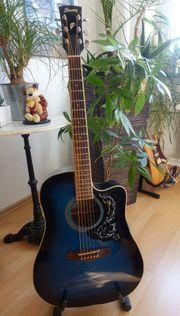 Westerngitarre Ibanez PF15ECE-TBS Gitarrentasche