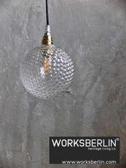 Glaskugel Lampen -70er Jahre Stil -