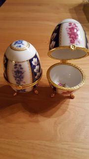 2 neue Porzellan Eier schönes
