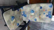2 Stück Polsterauflagen grau blau