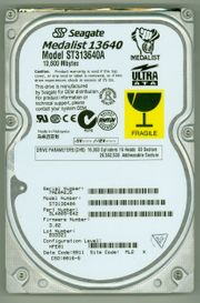SEAGATE ST313640A Disk-Oldtimer 13 6GB