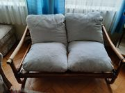Rattan-Sitzgarnitur zu verkaufen