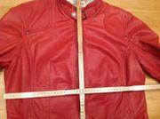 Damen Leder Jacke rot Größe