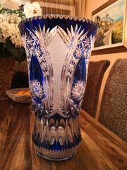 Wunderschöne große Blei Kristallvase in