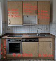 Küche Küchenzeile Einbauküche mit Einbau-Elektrogeräten