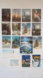 17 Weihnachtskarten Postkarten Set komplett
