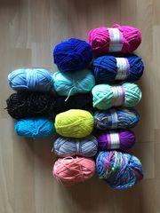 Verkaufe günstig 15 verschiedene Wollsorten