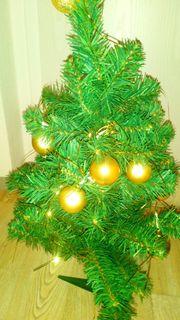 Weihnachtsbaum- Kugeln Lichterkette Strohsterne Kabellose