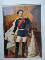 Gerahmte Kopie von Ludwig II