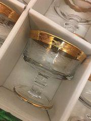 Gläser mit wunderschönem Goldrand