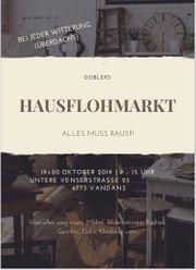 Hausflohmarkt in Vandans am 19