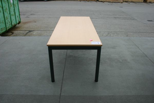 Schreibtisch 200 X 80 In Ahorn Dunkel Von Steelcase Gebraucht In