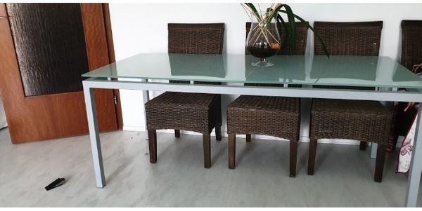 wunderschönes Glas Tisch 2m