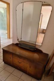 Vintage Schminktisch Kommode mit Spiegel