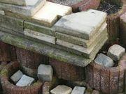 Betonplatten und Rabatten Reste