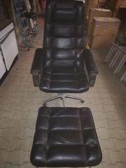 Schreintischstuhl aus Leder