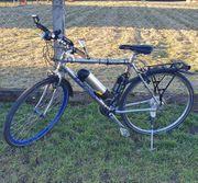 Zum PEDELEC umgerüstetes Fahrrad kaum