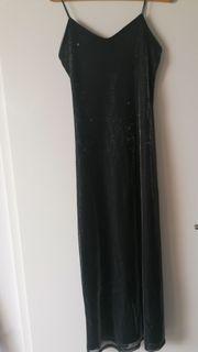 Schwarz-silber langes Kleid für viele