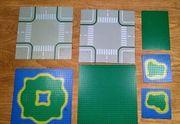 7 Lego Bauplatten Insel Kreuzung