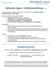 Callcenter Agent - Direktvermittlung m w