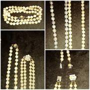Echte Perlenketten 2 reihig mit
