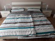 Super schönes Doppelbett weiß grau
