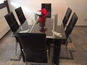 Esszimmergruppe Tisch 6x Stühle Sitzgruppe