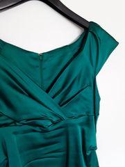 Smaragdgrünes Cocktailkleid 1x bei der