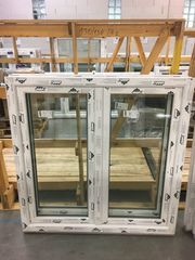 Kunststofffenster 130x130 cm 2flg aus