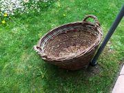 Großer Weidenkorb Brennholzkorb rund