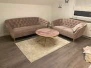 Couch samt altrosa