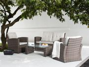 Lounge Set Rattan braun 4-Sitzer