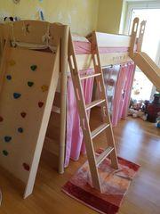 Hochwertiges Kinderhochbett aus Buche massiv