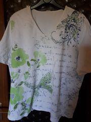 T-Shirt Gr 48 weiß mit