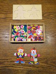 Kinder Clown Puzzle Holz