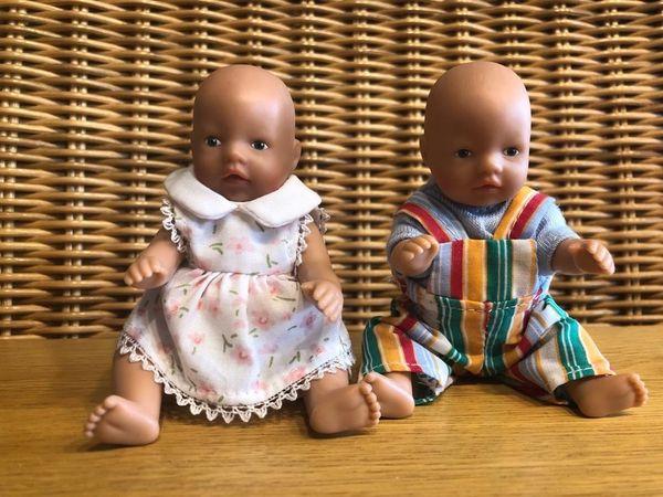Drei kleine Zapf-Puppen